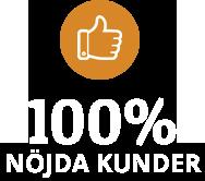 100% Nöjda kunder